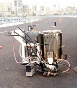 Manual Thermoplastic road marking machine - road marking machinery and materials